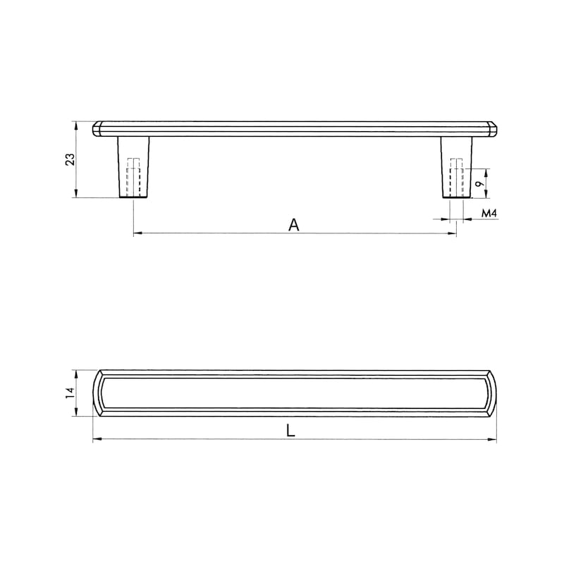 Möbelgriff Design ZD 23 - 2