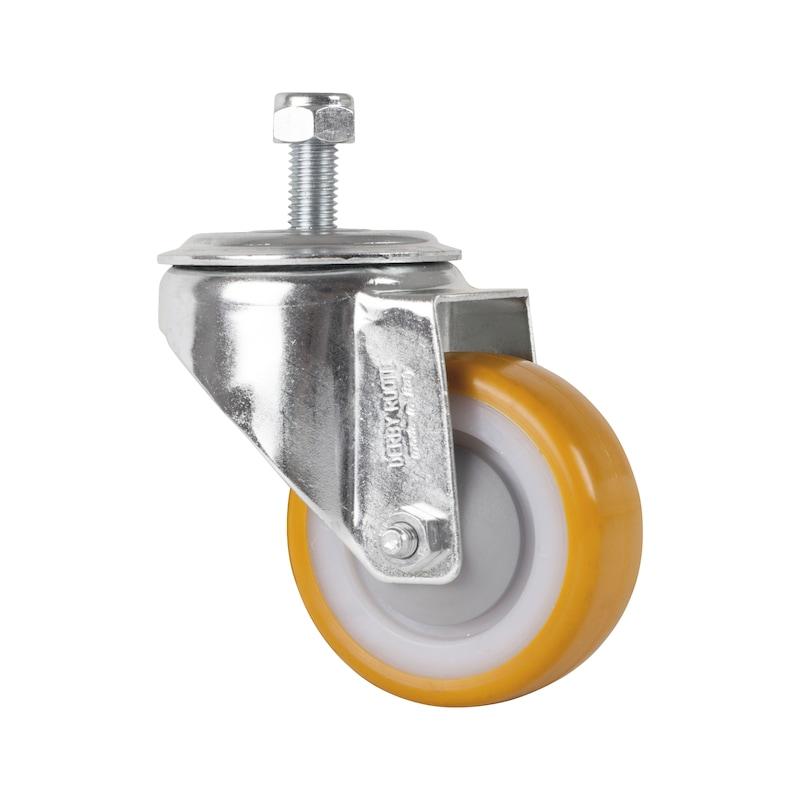 Ruota piroettante per sollevatore idraulico speciale a carrello