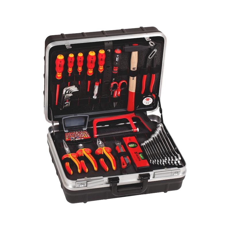 Assortimento di utensili elettrici in custodia PE/AL, 69 pezzi  - 1
