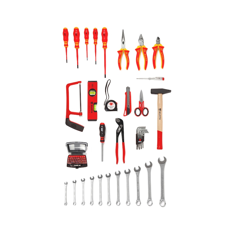 Assortimento di utensili elettrici in custodia PE/AL, 69 pezzi  - 2