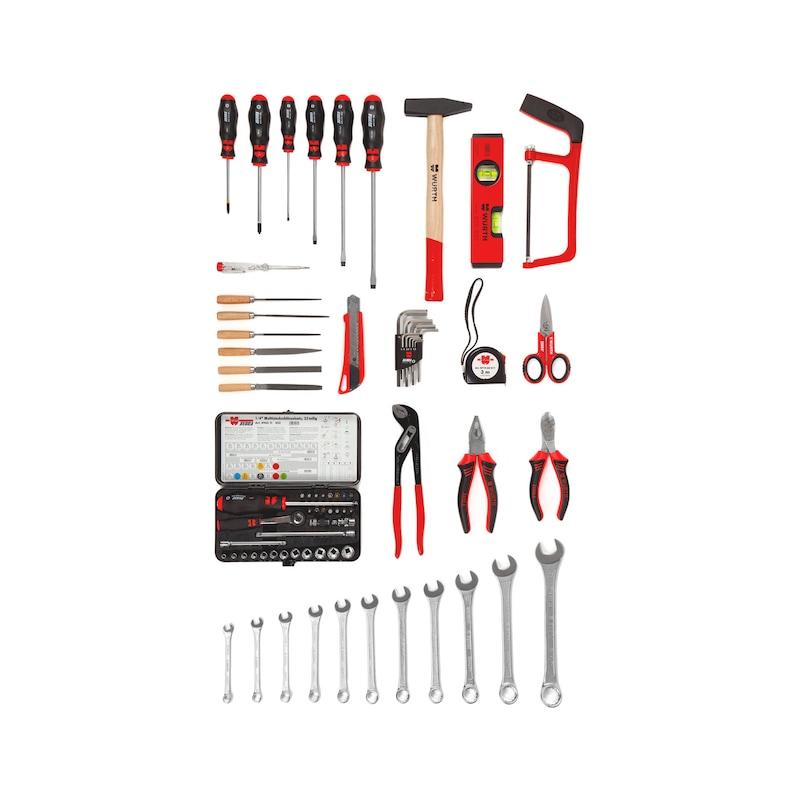 Kit de mallette d'entretien PE/ALU, assortiment d'outils, 76pièces  - 2