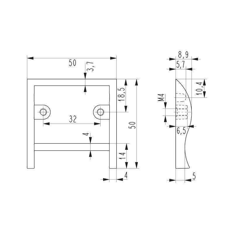 Design-Möbelgriff - 2