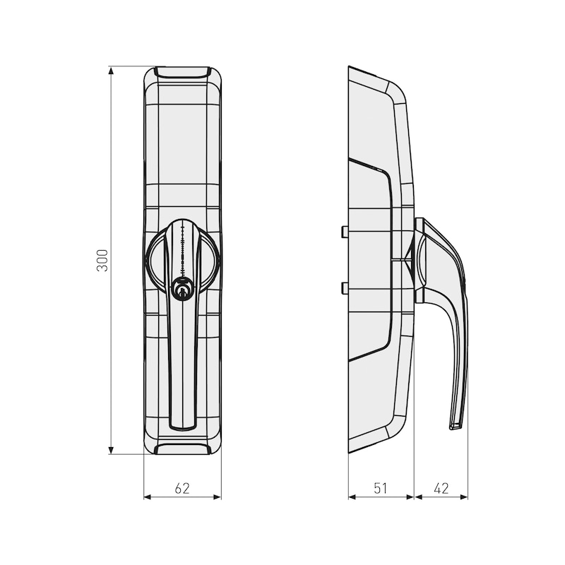 Funk-Terrassentürantrieb FCA3000 - 2