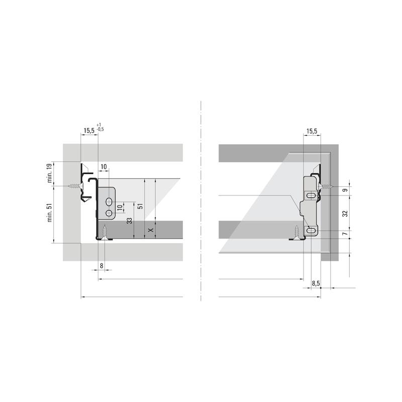 Einwandige Zarge Integra H53 - ZARGSYS-INTEGRA-R9010-H53MM-NL550MM