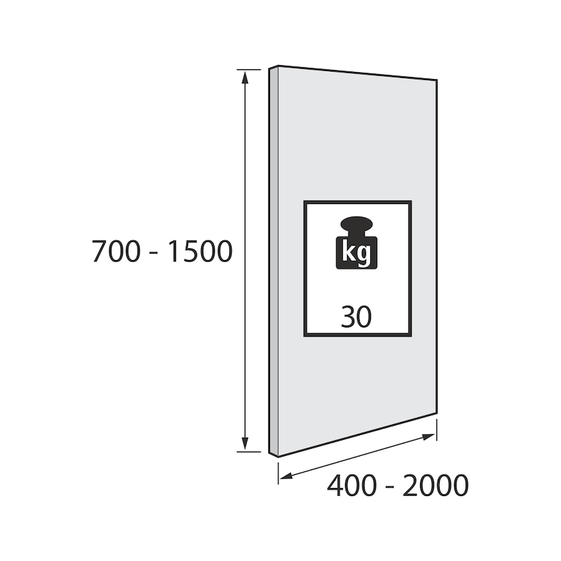 Führungsriegel-Set vorliegend SlideLine 55 Plus - 3
