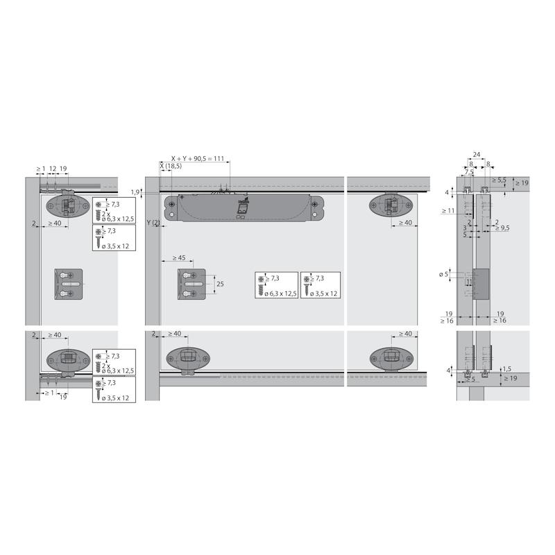 Führungsriegel-Set vorliegend SlideLine 55 Plus - 8