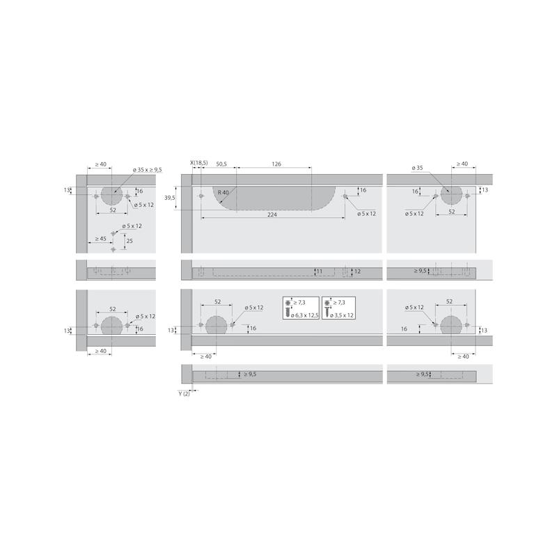 Führungsriegel-Set vorliegend SlideLine 55 Plus - 9