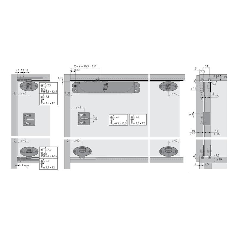Führungsriegel-Set vorliegend SlideLine 55 Plus - 10