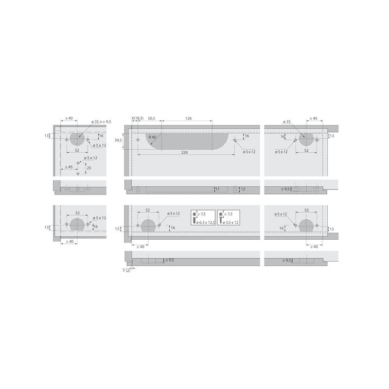 Führungsriegel-Set vorliegend SlideLine 55 Plus - 11
