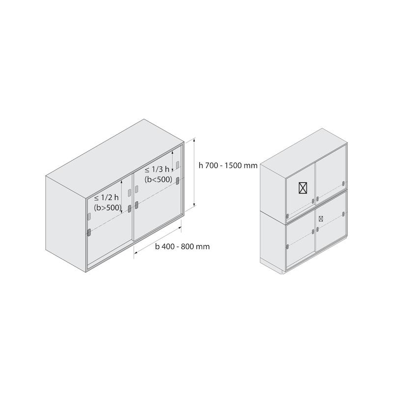 Führungsriegel-Set vorliegend SlideLine 55 Plus - 12