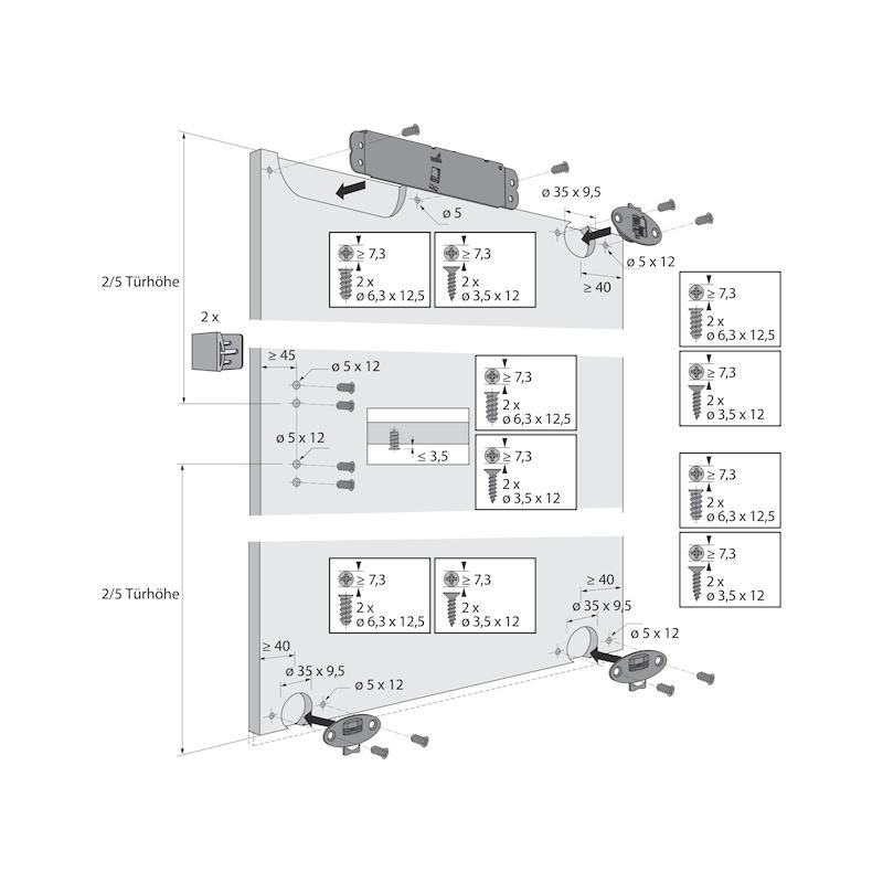 Führungsriegel-Set vorliegend SlideLine 55 Plus - 14