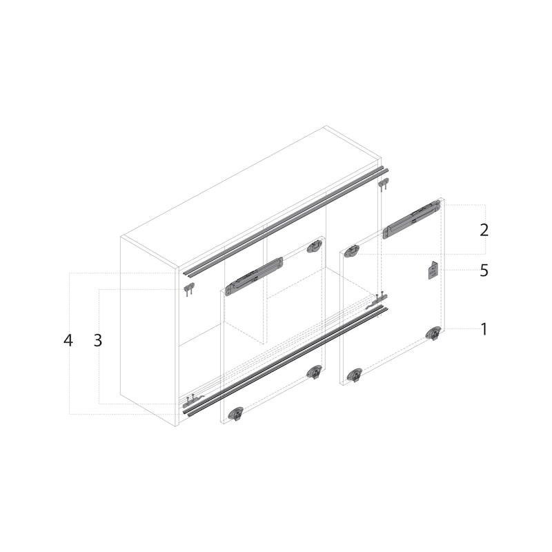 Führungsriegel-Set vorliegend SlideLine 55 Plus - 15