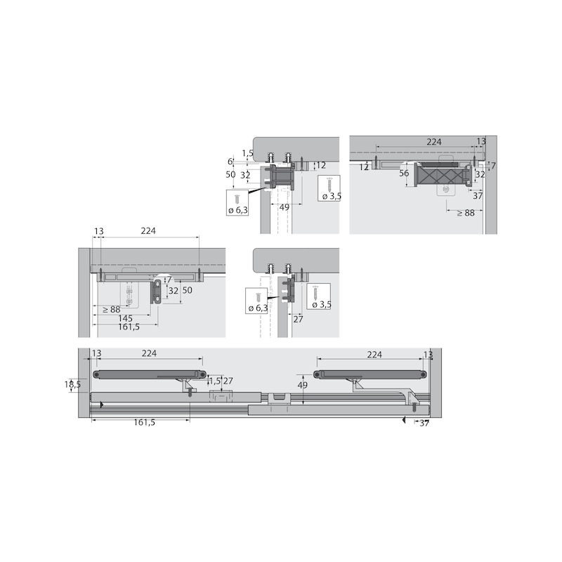 Schiebetürbeschlag SlideLine 56 - 8