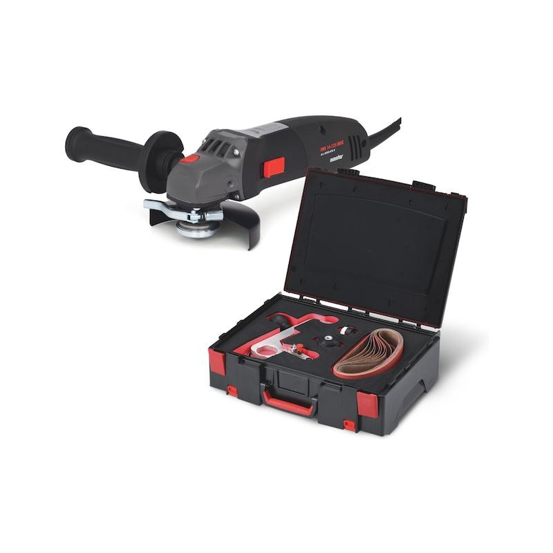 Winkelschleifer-Set mit Rohrbandschleifvorsatz