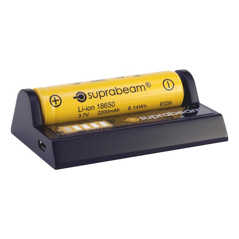 Suprabeam USB lataustelakka - LATAUSTELAKKA SUPRABEAM 18650 USB