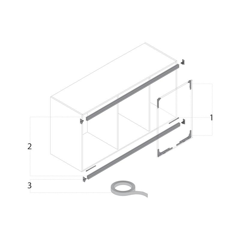Schienen-Set vorliegend zweifach SlideLine M - 3