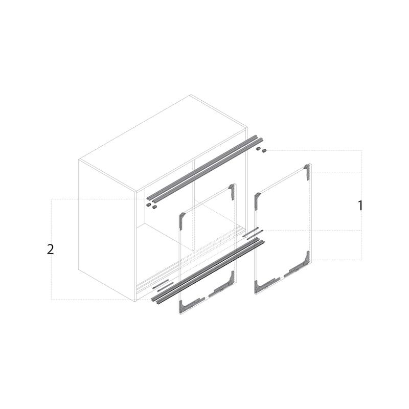Einfachlaufschienen-Set einliegend SlideLine M - 4