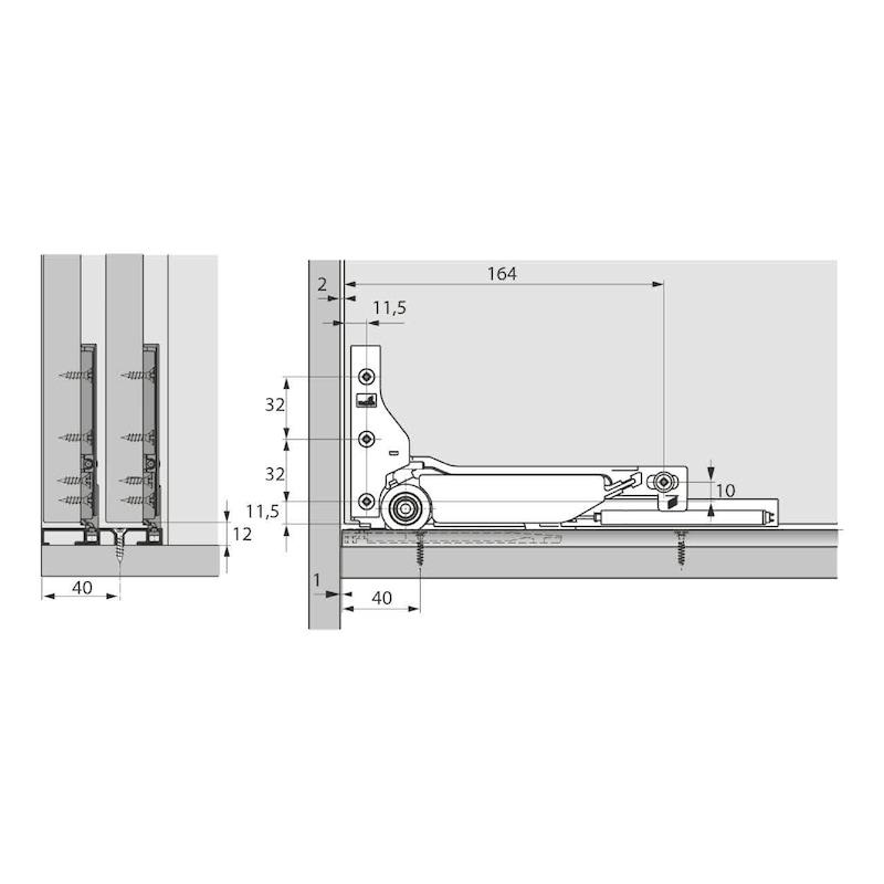 Doppellaufschienen-Set einliegend SlideLine M - 3