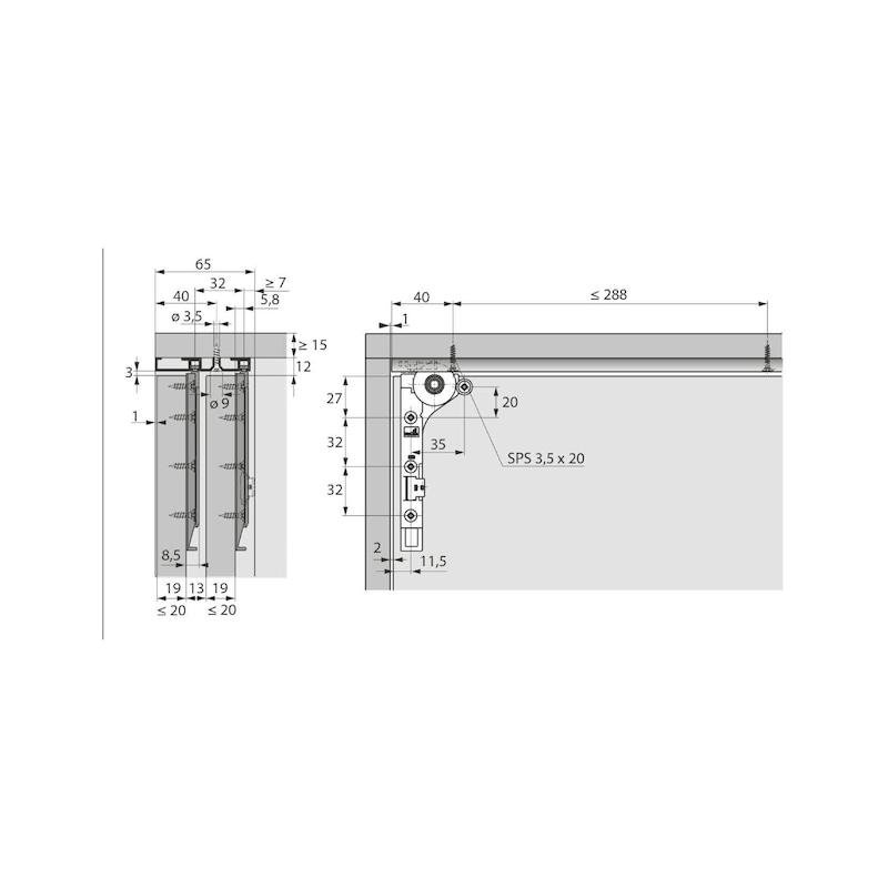 Doppellaufschienen-Set einliegend SlideLine M - 2