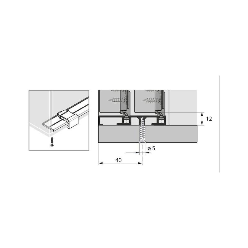 Doppellaufschienen-Set einliegend SlideLine M - 6