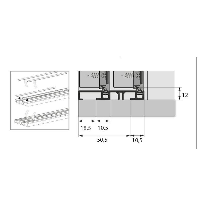 Doppellaufschienen-Set einliegend SlideLine M - 5