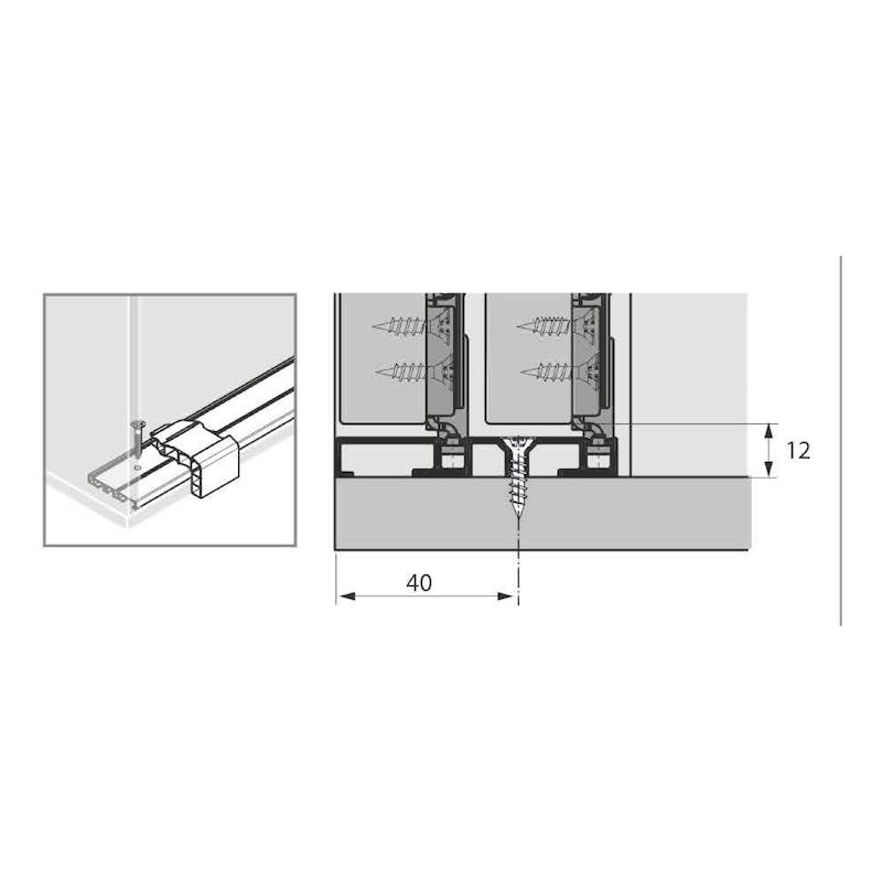 Doppellaufschienen-Set einliegend SlideLine M - 4