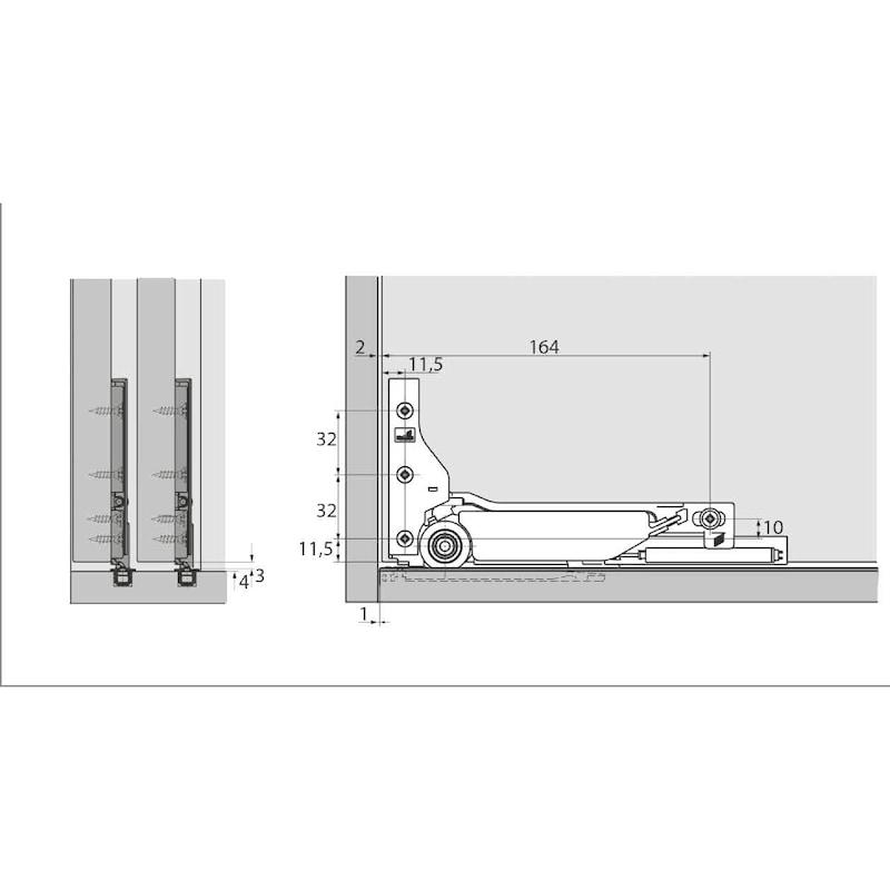 Einfachlaufschienen-Set einliegend SlideLine M - 3