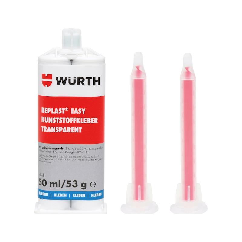 Adesivo per materiali plastici REPLAST<SUP>®</SUP> Easy, trasparente