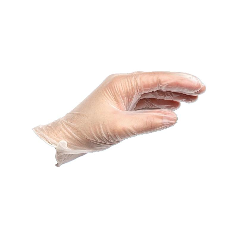 使い捨てビニール手袋 - ビニールグローブ SIZE:L(100枚)