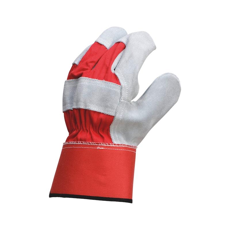 Handsker af spaltlæder W-10 - SPALTHANDSKE W10 STR 8