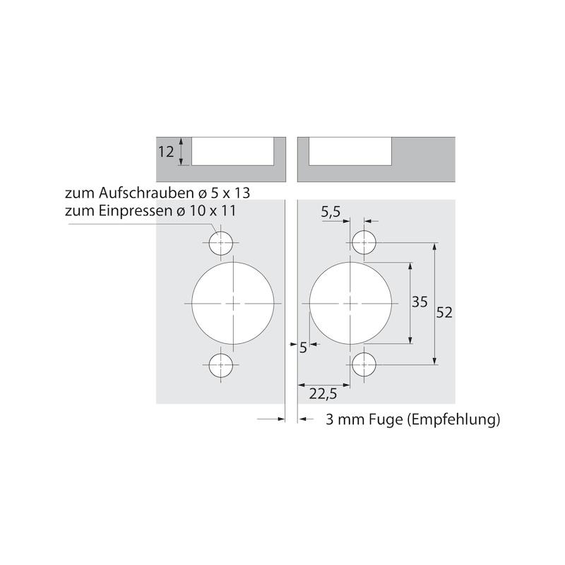 Falttürbeschlag ohne unterer Führunhg ohne Schließautomatik WingLine L - 16