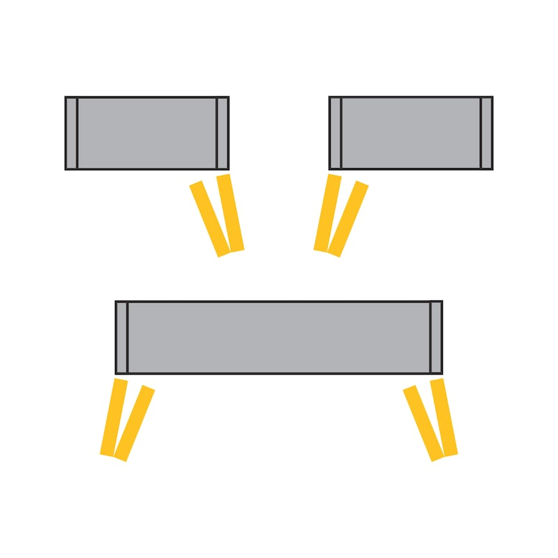 Falttürbeschlag ohne unterer Führunhg ohne Schließautomatik WingLine L - 4