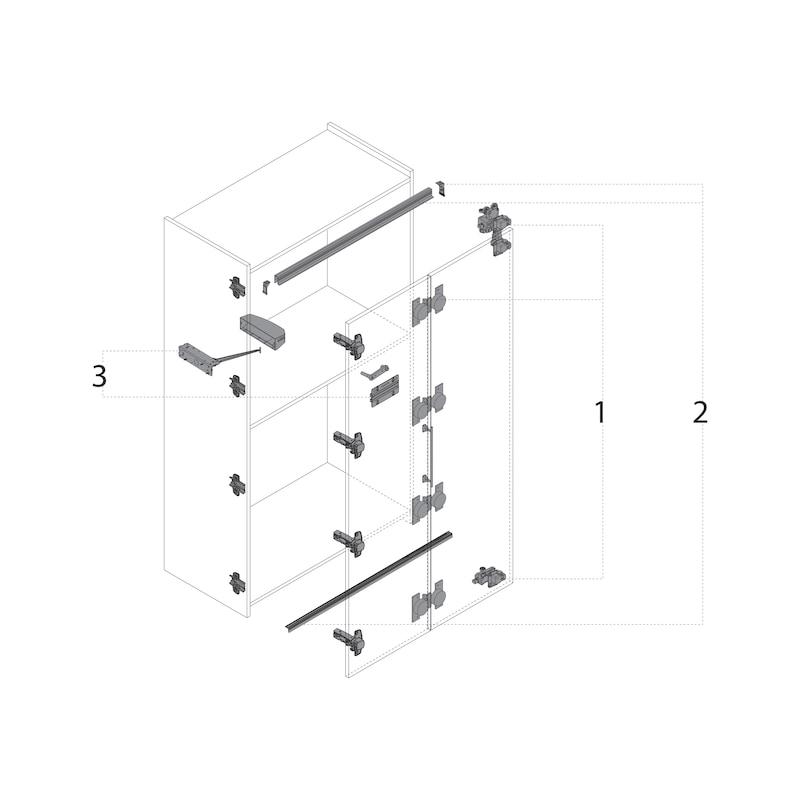 Falttürbeschlag ohne unterer Führunhg ohne Schließautomatik WingLine L - 14