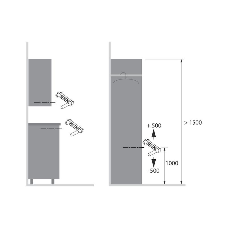 Push-to-move Zuhaltung magnetisch zum Anschrauben WingLine S - 2