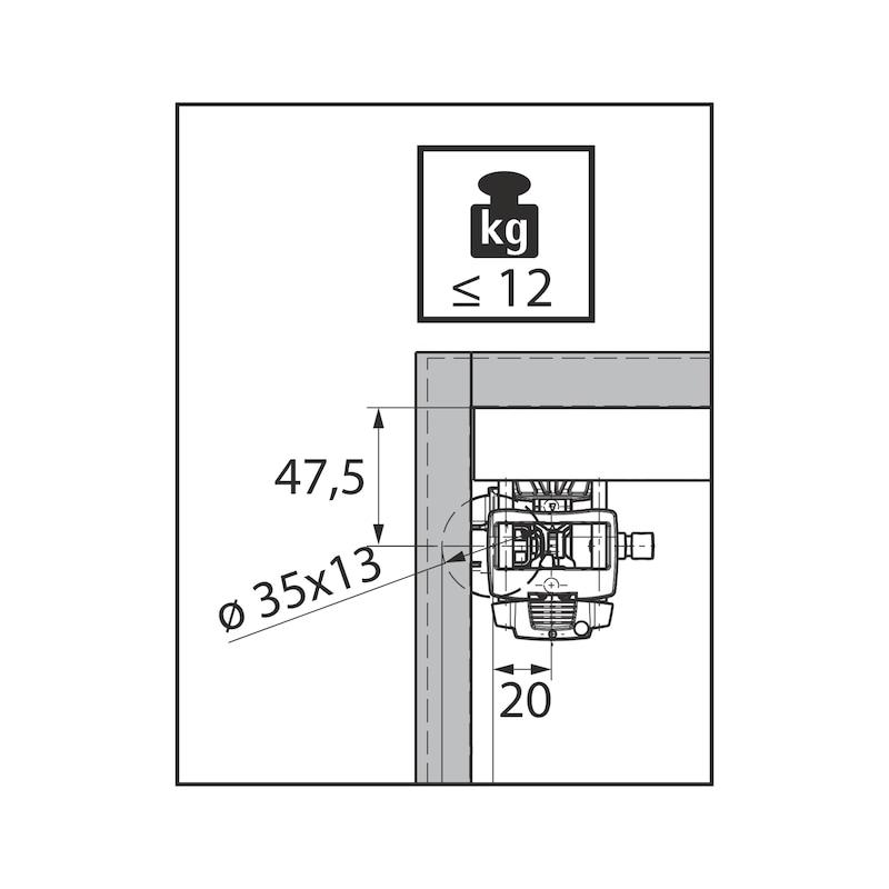 Falttürbeschlag ohne unterer Führunhg ohne Schließautomatik WingLine L - 11