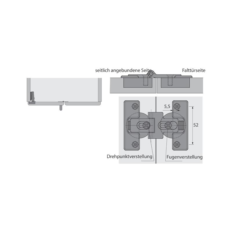 Falttürbeschlag ohne unterer Führunhg ohne Schließautomatik WingLine L - 15