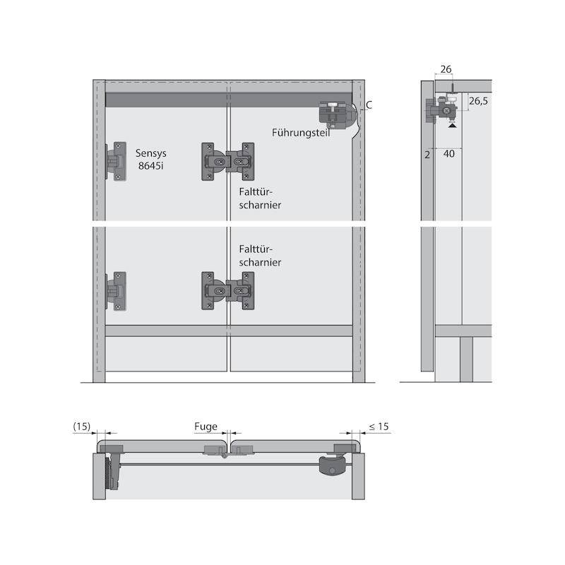 Falttürbeschlag mit Schließautomatik WingLine S - 8