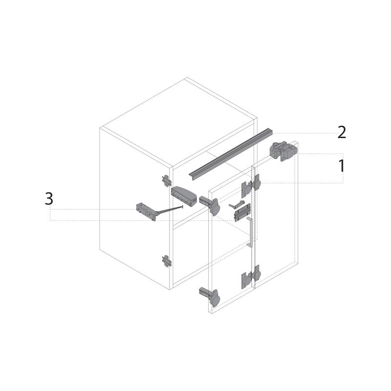 Push-to-move Zuhaltung magnetisch zum Anschrauben WingLine S - 3