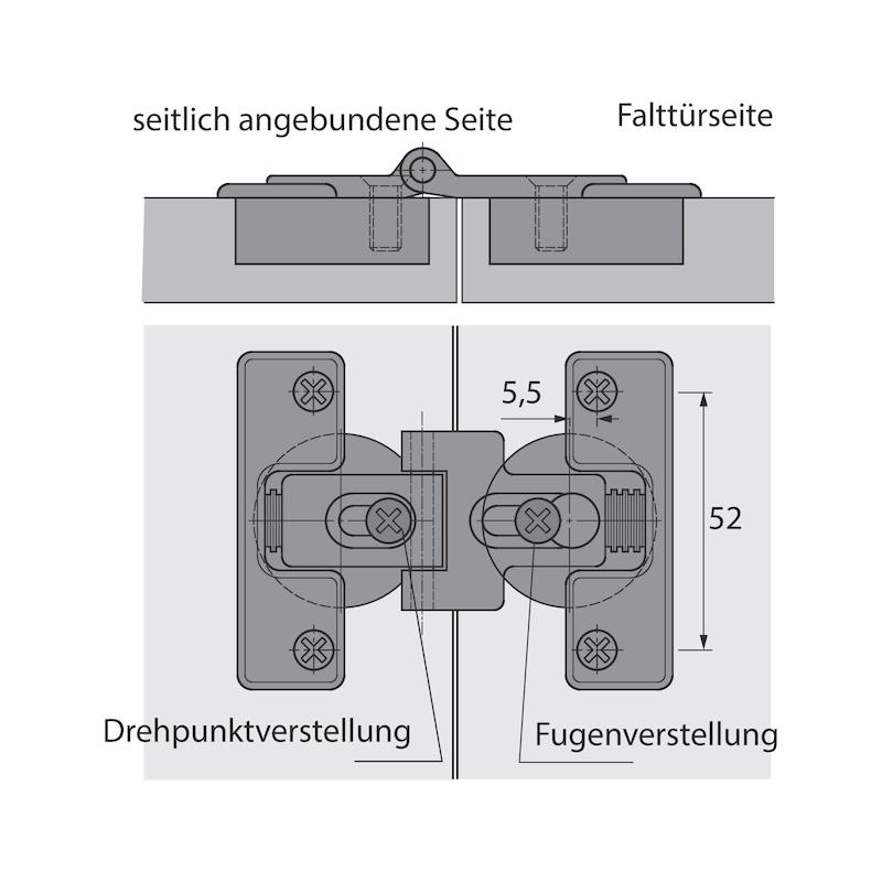 Falttürbeschlag mit Schließautomatik WingLine S - 9