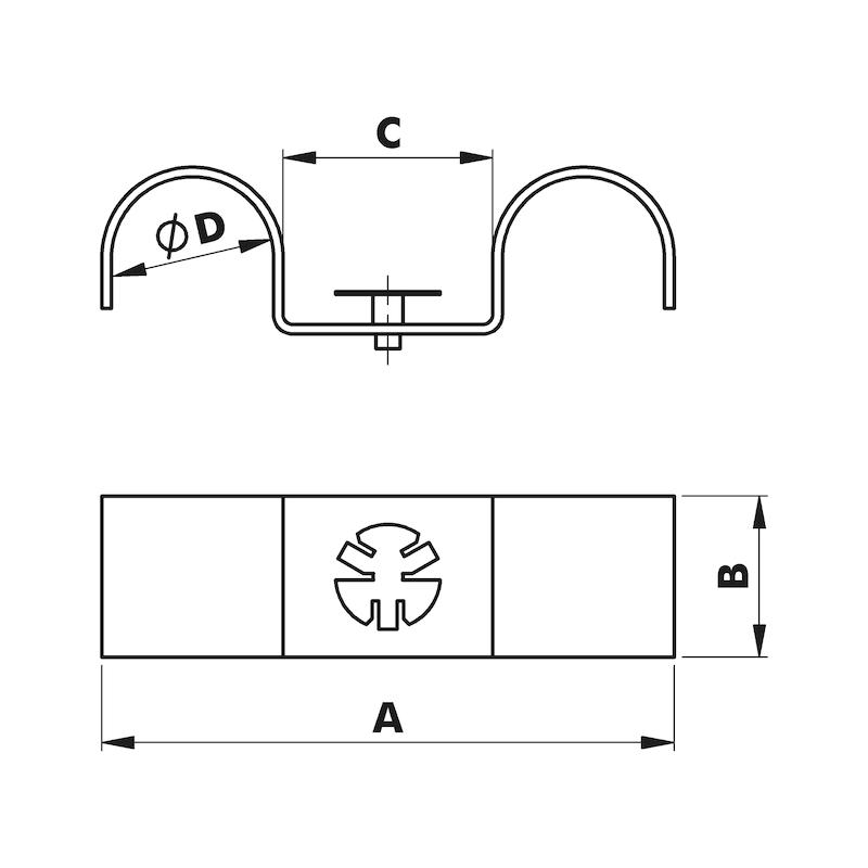 Dubbele klembeugel W-GFIXBD 927 - 2