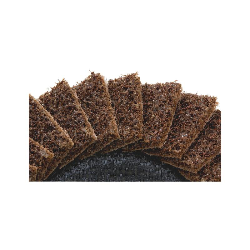 Disco de lixa de lamelas de lã - DISCO NYLON LAMELADO 125MM 80