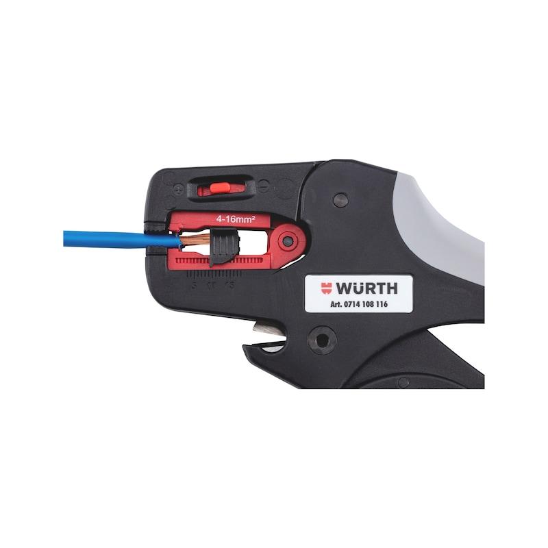 Wire stripping pliers, adjustable - WRESTR-ADJ-(4-16SMM)