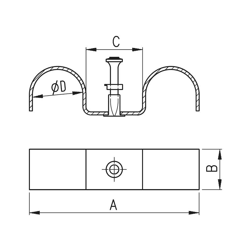 Double pontet de fixation FIXB 227 - 2