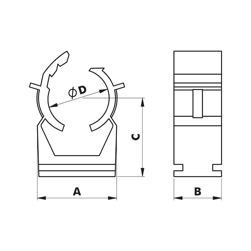 Klemmschelle W-QUICLIP - ZB-SCHELLE-(DIGA CS1)-VERSHLBAR-(35-40)