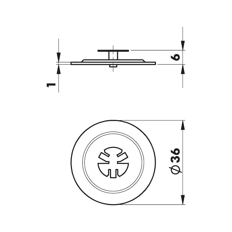 Plaque ronde W-RO 36 - 2