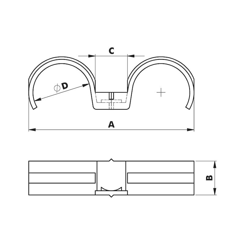 Doppelfixbride W-GFIXBDK 939 - 2