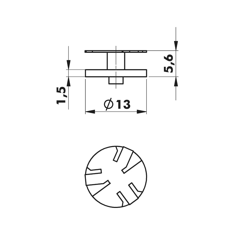 Rondelle W-RO 13 - ZB-STAHLSCHEIBE-(DIGA CS1)-13MM