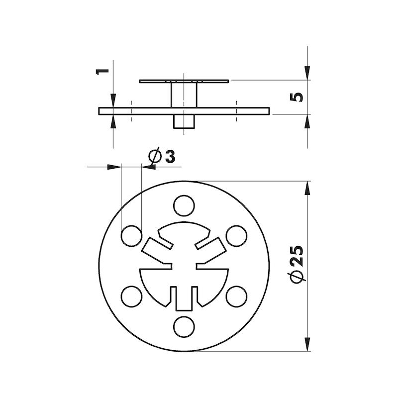 W-RO 25 rondelle W-RO 25 - POINTES-POUR-CLOUEURS-A-GAZ-13MM