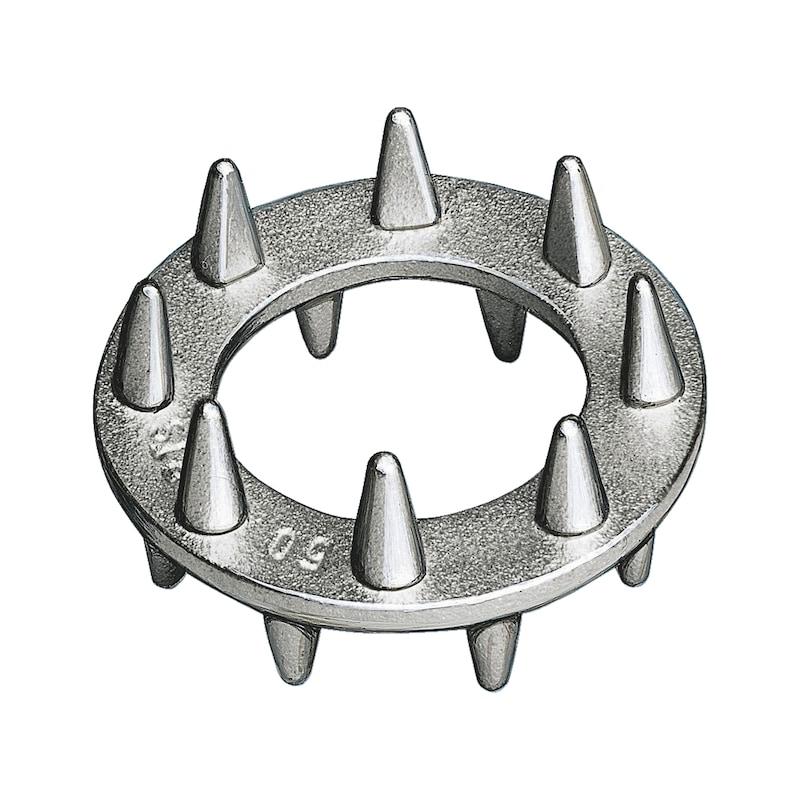 Scheibendübel mit Zähnen zweiseitig Typ C10 - DBL-EN912-C10-2SEITIG-(A4K)-D80/50MM