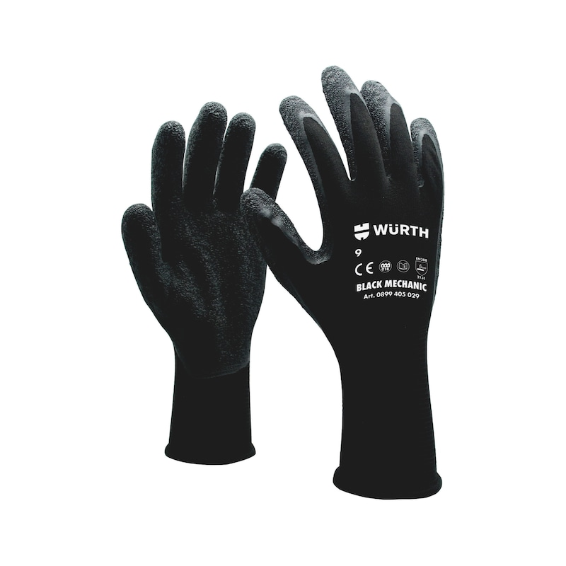 Protective glove Black Mechanic - PROTGLOV-SPEC-MECHANIC-BLACK-SZ9